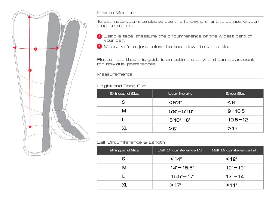 Uitgelezene adidas scheenbeschermers maattabel SD-69
